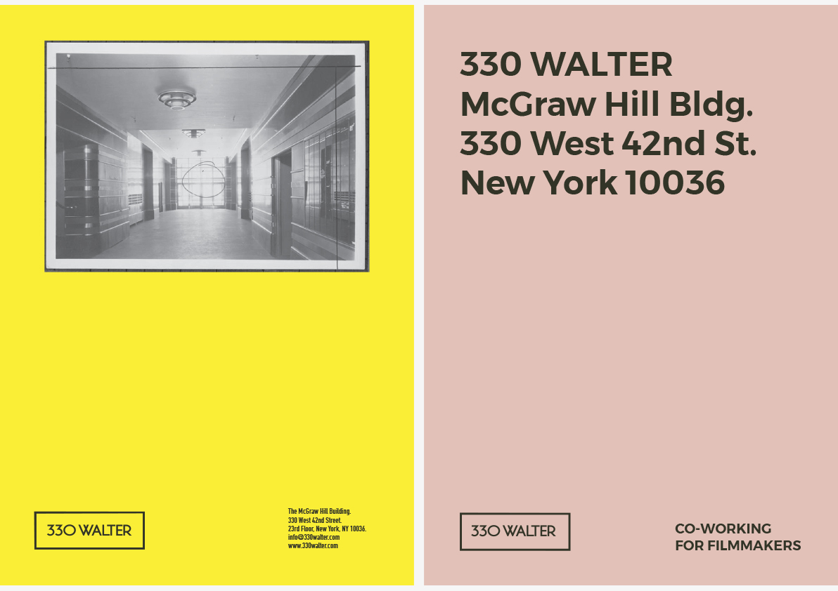 Verbal Identity | Web | Signage | Identity Systems | Photography |  Collateral. NEW YORK OFFICE. 330 West 42nd Street.